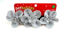 DOG COLLAR With Felt Flowers Pet Holiday For Large Dog