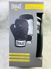 New! Everlast Black/White Advanced Training Boxing Gloves