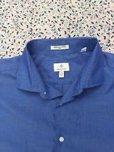 "GANT - American Cotton - Slim - Blue - Button Cuff - Shirt - XXL - 18"" collar"