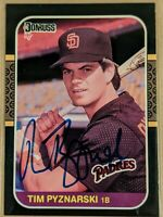 TIM PYZNARSKI 1987 Donruss #654 signed rookie card SAN DIEGO PADRES NM/MT