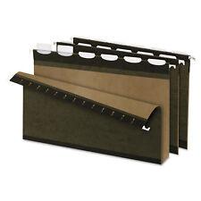 "Pendaflex Ready-Tab Hanging File Folders 2"" Capacity 1/6 Tab Legal Green 20/Box"