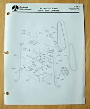 Original Rockwell Steel Stand For 4 6 Jointers Illustrated Parts List J 2b 3