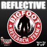 REFLECTIVE Bigfoot Research Team RED Sticker Car Truck Bumper Vinyl Decal #FS382