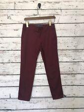 Zara Man Mens Chino Pants Size 29x28 Burgundy Skinny