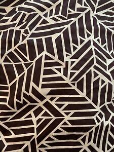 Diane Von Furstenberg DVF Cotton Sateen Modern Brown Queen Duvet Cover EUC