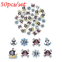 50Pcs 2 Holes Pirate-shaped Mixed Wooden Buttons Sewing DIY Craft Scrapbooking