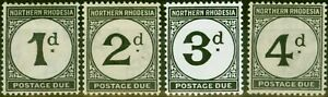 Northern Rhodesia 1922-52 Postage Due Set of 4 SGD1-D4 Fine Lightly Mtd Mint