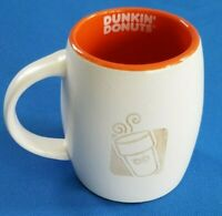 Dunkin' Donuts 2012 Engraved Mug Cup Coffee Tea White Orange