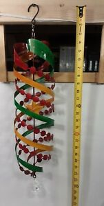 NIB Holiday Hanging Swirl wind Spinner multi color Star with prism