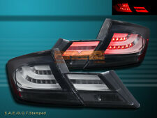 Fit For 13-15 Honda Civic 4dr Sedan Black L.E.D Tail lights 4 PCS