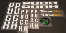 Transfers Silver Decals 01481 Puch Pursuit Bicycle Stickers