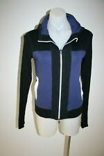 MARCCAIN purple & black jacket - size 4, AU10, $199 NEW!