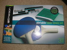 New Emerson Portable Table Tennis Set Includes 2 Paddles, 3 Balls Net and Posts