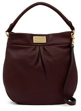 Marc Jacobs Classic Hillier Leather Hobo Shoulder Crossbody Bag, Cordovan