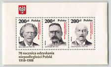 POLEN POLSKA POLAND, 1988, TOPBLOCK 107, POLITICIANS, xx, MNH