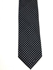 Prada Black Tie with Silver Shapes  Silk. 57.5 x 3.5 Geometric