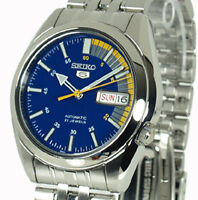 New SEIKO 5 AUTOMATIC BLUE FACE FEATURED SPEED DIAL SNK371K1