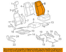 GM OEM Front Seat-Cushion Cover-Top Back 20902502