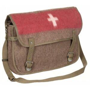 MFH® Swiss Outdoor Bushcraft Vintage Retro Look WOOL Shoulder Bag - Brand New