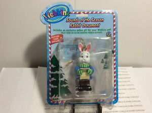 WEBKINZ RABBIT ORNAMENT NEW FACTORY SEALED PACKAGE WITH CODE FREE SHIP IN US~