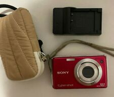 Sony DSC-W230 Cyber-Shot Digital Camera 12.1MP With Charger And Carrying Case