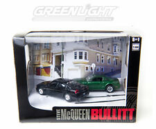 GREENLIGHT 1:64 DIECAST METAL GREEN 2008 MUSTANG GT AND BLACK 2008 CHARGER SRT8