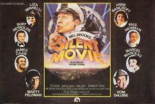 SILENT MOVIE Movie POSTER 27x40 B Mel Brooks Marty Feldman Dom DeLuise Burt