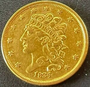 1834 CLASSIC HEAD $5 FIVE DOLLAR HALF EAGLE (VERY NICE LOOKING EARLY GOLD)