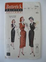VTG 1950s Butterick Jumper Dress Pattern #7049  Size 14/Bust 32