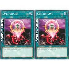 2x ONE FOR ONE • (Uno Per Uno) • Comune • SDPL EN029 • Yugioh! • ANDYCARDS