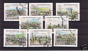 8 Francobolli Austria serie WIPA 1964 usati