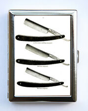 Retro Razors Barber Cigarette Case Wallet Business Card Holder victorian