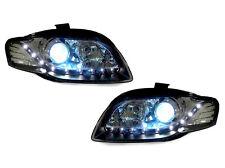 DEPO 06-08 AUDI A4 B7 4D/5D BLACK Bi-XENON HID R8 LED HEADLIGHTS AVANT QUATTRO