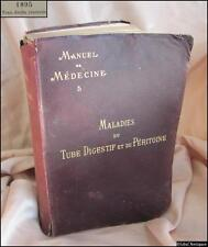 Antique 1895 French Medical Gastrointestinal Diseases Book Vol.5 - Paris