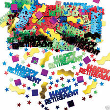 HAPPY RETIREMENT CONFETTI /  TABLE SPRINKLES MULTI COLOUR TABLE DECORATIONS