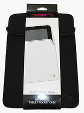 ROCKETFISH 10'' X 8'' ( 255mm x 204mm ) UNIVERSAL TABLET POCKET CASE -BLACK- NEW