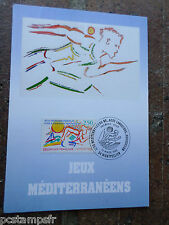 FRANCE 1993, CM 1° jour FDC SPORT, JEUX MEDITERRANE, timbre 2795, VF POSTAL CARD