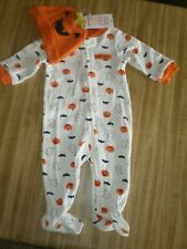 Baby Boy or Girl Halloween Outfit by Carters Size 3M NEW Footed, Hat