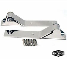 1987-1995 Jeep Wrangler Tailgate Hinges Stainless Steel with Hardware Kit
