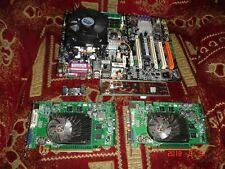 MSI P4N SLI Motherboard LGA775 bundle with cpu/cooler+2x video cards SLI MS-7160