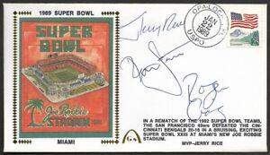 Jerry Rice Ronnie Lott Roger Craig Signed Super Bowl 23 Gateway Stamp Envelope