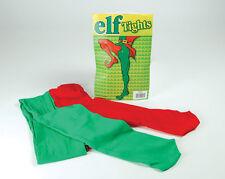 Elfo medias one rojo pierna verde Navidad Ayudante de Santa disfraz accesorio