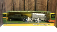 Ertl John Deere Pick Up And Trailer With Cows Hauling Toy Set - New Other