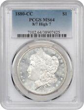 1880-CC $1 PCGS MS64 (8/High 7) Morgan Silver Dollar