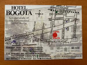 Postkarte Ansichtskarte Hotel Bogota Berlin