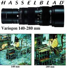 HASSELBLAD VARIOGON 140-280mm ZOOM CAMERA LENS BROCHURE -from 1979-HASSELBLAD