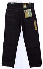 New Men's LEE Rex Black Regular Fit Straight Leg Denim Jeans 32 X 30 NWT!