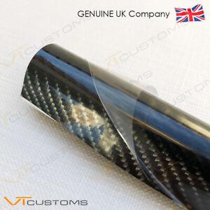 50 x 152cm 5D Carbon Fibre Vinyl Wrap Car Glossy Sticker Air/Release Film
