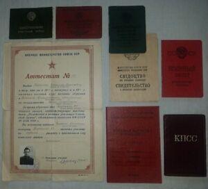 Russian Soviet  flight book  fighter pilot gramota certificate Korea War
