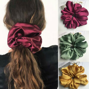 Super Large Size Smooth Satin Headdress Girls Hair Rope Scrunchies Hair Ring